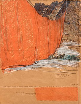 """465. Christo & Jeanne-Claude, """"Valley Curtain (Project for Colorado Grand Hogback)""""."""