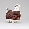 A stig lindberg stoneware figure of a horse, 'springare', gustavsberg studio 1952-72.
