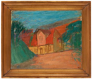 "186. Carl Kylberg, ""Röda tak"" (Red roof)."