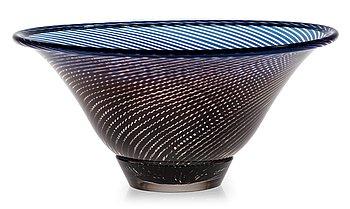 850. Edward Hald, An Edward Hald 'Slipgraal' glass bowl, Orrefors 1955.