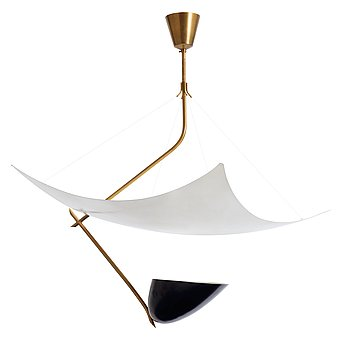 1. An Angelo Lelli 'Suspended ceiling light', Italy 1950's.