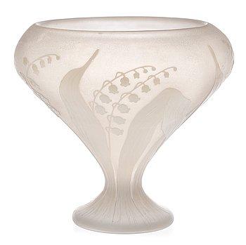 821. A Karl Lindeberg Art Nouveau cameo glass vase, Kosta.
