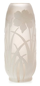 823. A Karl Lindeberg Art Nouveau cameo glass vase, Kosta.
