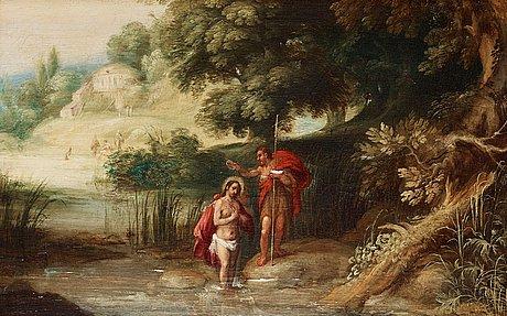 Gysbrechts leytens follower of, the baptism of christ.