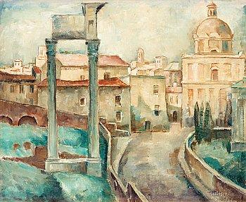 114. Ellis Wallin, Motif from Forum Romanum, Rome.