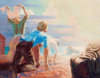 "136. Waldemar Lorentzon, ""Aktiv scen"" (Active scene)."