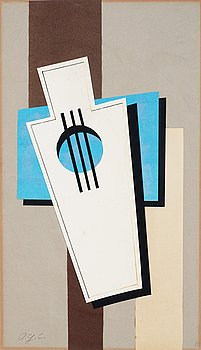 196. Otto G Carlsund, Composition with musical instrument.