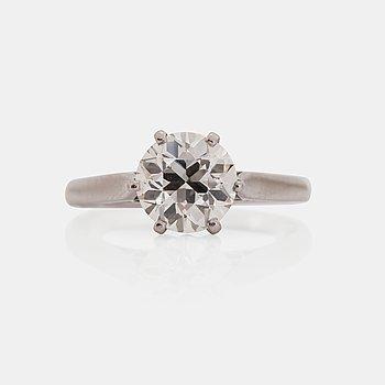 1126. RING, platina med briljantslipad diamant, 2.08 ct.