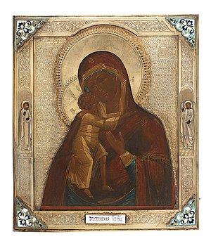 749. IKON, av Alexander Munchin, Moskva 1886. Gudsmodern med Kristus.