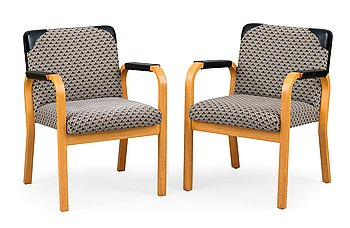 2. Alvar Aalto, A PAIR OF ARMCHAIRS, No 46.