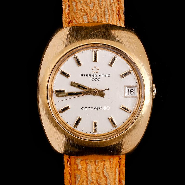 ARMBANDSUR, Eterna Matic 1000, concept 80, 1960-/70-tal.