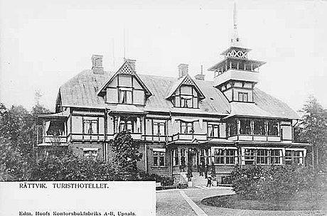 """Nils von dardel, """"turisthotellet i rättvik"""" (the tourist hotel in rättvik)."""