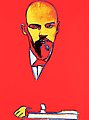 "ANDY WARHOL, ""Red Lenin"". Silkscreen in col..."