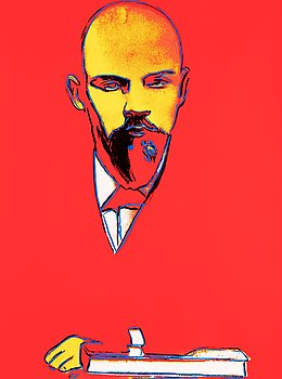 "263. Andy Warhol, ""Red Lenin""."