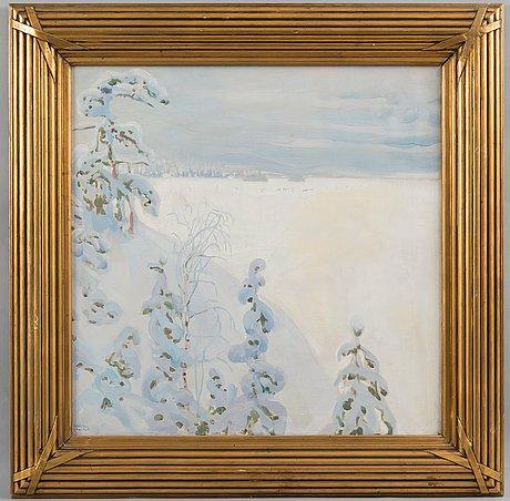 Akseli gallen-kallela, winterlandscape.