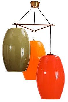 12. A Vistosi Vetreria ceiling lamp, Italy 1960's.