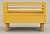 A lacquered plywood baby cot, attributed to aino aalto, probably 1940's.