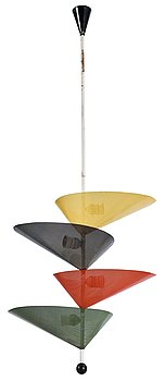 A ceiling lamp attributed to Mathieu Mategot, Atelier Mategot, France, 1950's.