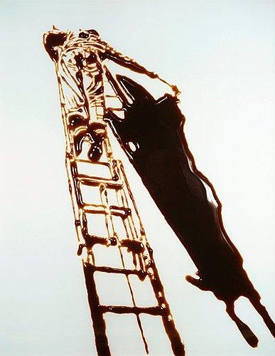 "Vik muniz, ""shadow painter (pictures of chocolate)"", 1998."
