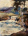 JALMARI RUOKOKOSKI, RAPIDS. Sign. 1919. Oil...