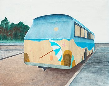 """402. Anna Finney, """"Hippiebussen"""" (The Hippie bus)."""