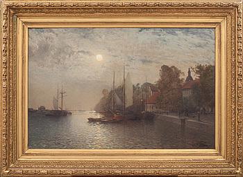 ALFRED WAHLBERG, olja på dubblerad duk, signerad och daterad 1886.