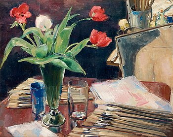 5. Olle Hjortzberg, From the artist's atelier.