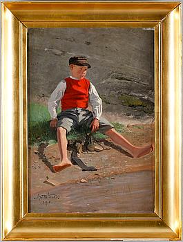 ALFRED THÖRNE, olja på duk, signerad och daterad 1890.