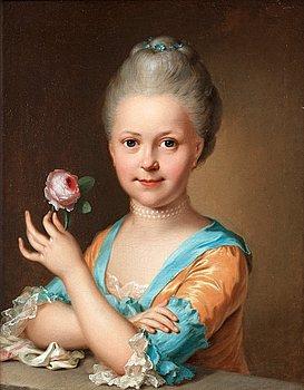 199. Ulrica Fredrica Pasch Tillskriven, Flicka med ros.