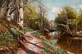 PEDER MORK MÖNSTED, Spring landscape with w...