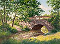 JOHAN KROUTHÉN, The old bridge. Signed Joha...