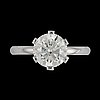A brilliant cut diamond ring, 3.01 cts.