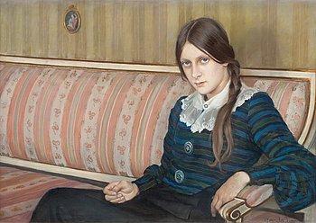 15. Gerda Tirén, Girl on a sofa.