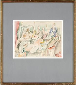 205. Henri Hayden, HENRI HAYDEN. Watercolour/pencil on paper, mounted on rice paper. Sign Hayden.