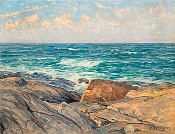 6. Woldemar Toppelius, CLIFFS ON THE SHORE.