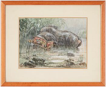ROBERT HÖGFELDT, akvarell, signerad.