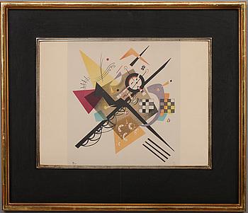 WASSILY KANDINSKY, efter, färglitografi, signerad i trycket och numrerad 59/400.