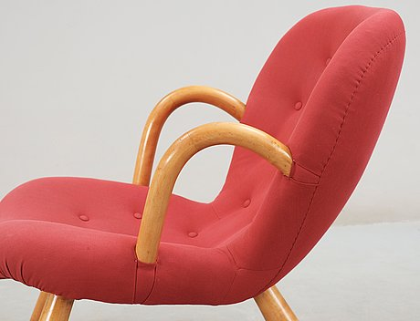A 1940's-50's 'clam chair' attributed to philip arctander.