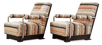 446. A pair of Axel Einar Hjorth 'Typenko' easy chairs, Nordiska Kompaniet ca 1931.