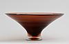 A paolo venini 'inciso' glass bowl, venin, murano, italy 1950's.