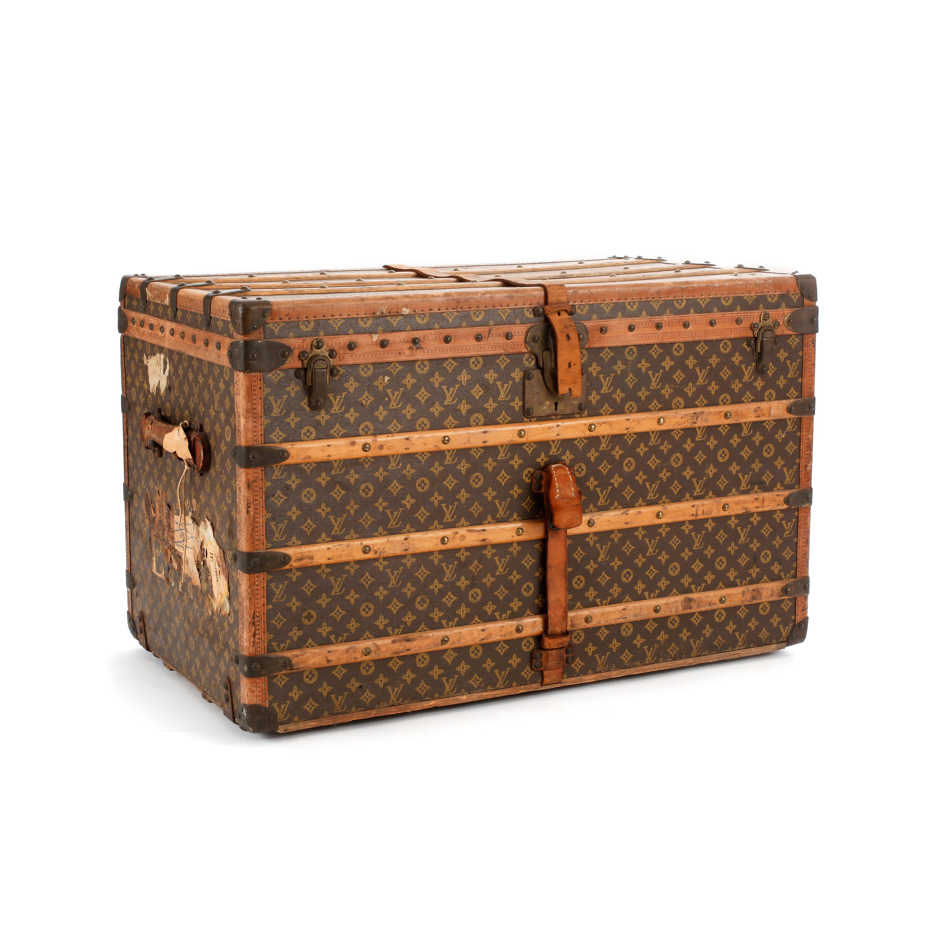 Fra mega LOUIS VUITTON, a Monogram canvas trunk, late 19th/early 20th PA-37