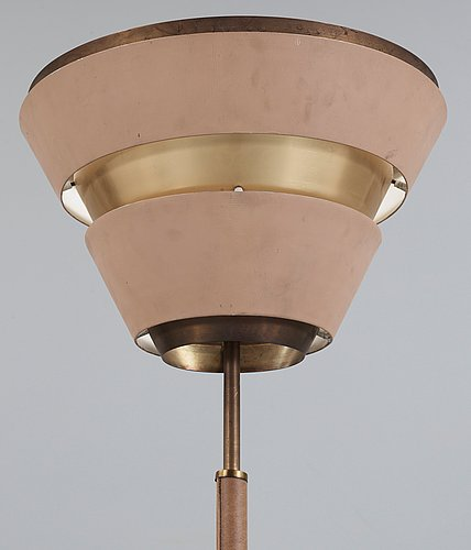 OkÄnd formgivare, möjligen en skiss av alvar aalto tänkt för valaistustyö, golvlampa 1950-tal.