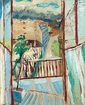 99. Sigrid Hjertén, View at Rue Joseph-Bara.