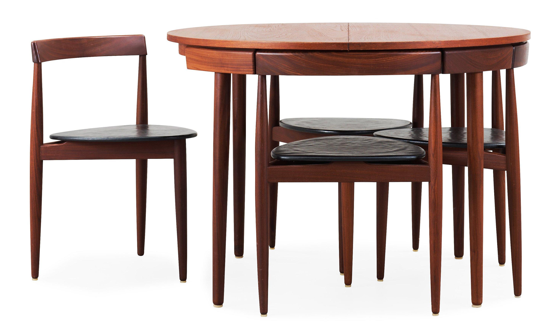 A Hans Olsen Teak Dining Table With Four Chairs, Frem Røjle, Denmark  1950u0027s.   Bukowskis