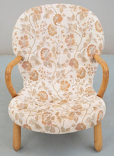 An easy chair attributed to philip arctander, sune johanssons möbelfabrik, sweden  1950's.