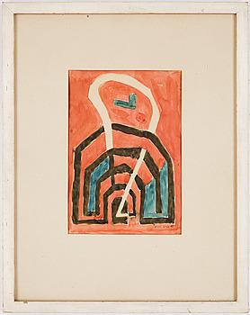OLLE GILL. Akvarell. Sign o dat -49.