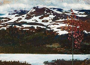 10. Helmer Osslund, Northern landscape in autumn.