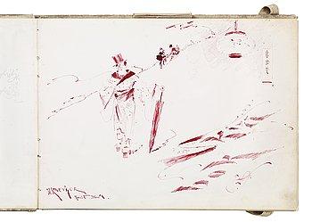 """101. Nils Kreuger, """"Skizzbok"""" (Sketch book)."""