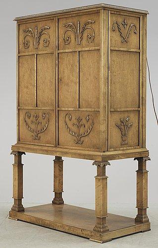 An axel-einar hjorth swedish grace bar cabinet 'caesar', antique patinated birch, nordiska kompaniet.