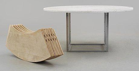 "Poul kjaerholm, matbord, ""pk-54"", fritz hansen, danmark 1986."